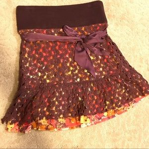 FREE PEOPLE - Crochet colorful patterned skirt
